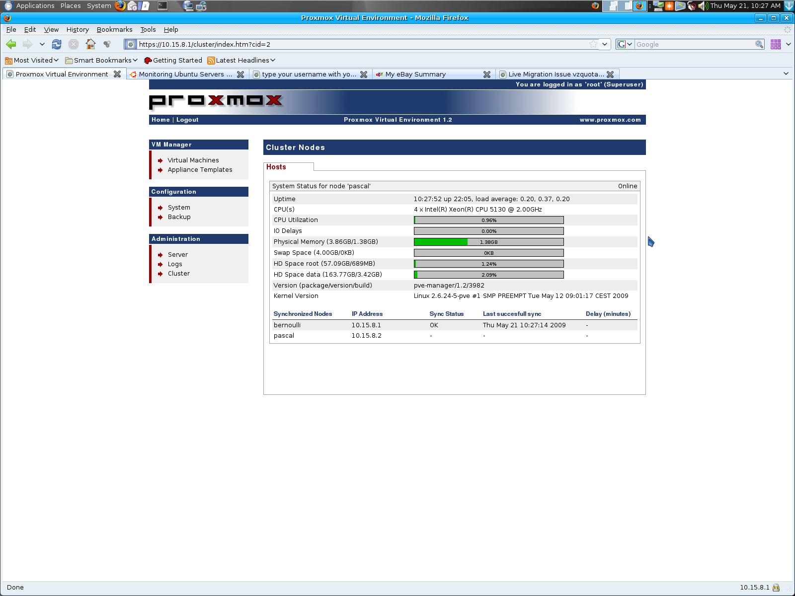 squishydale hypernexus net » Proxmox Virtual Environment…now this is
