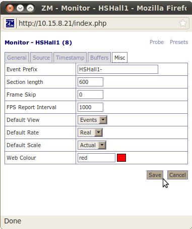 squishydale hypernexus net » Zoneminder Security Server